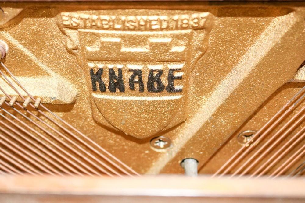 Knabe Knabe Dark Walnut Spinet Piano w/ Bench