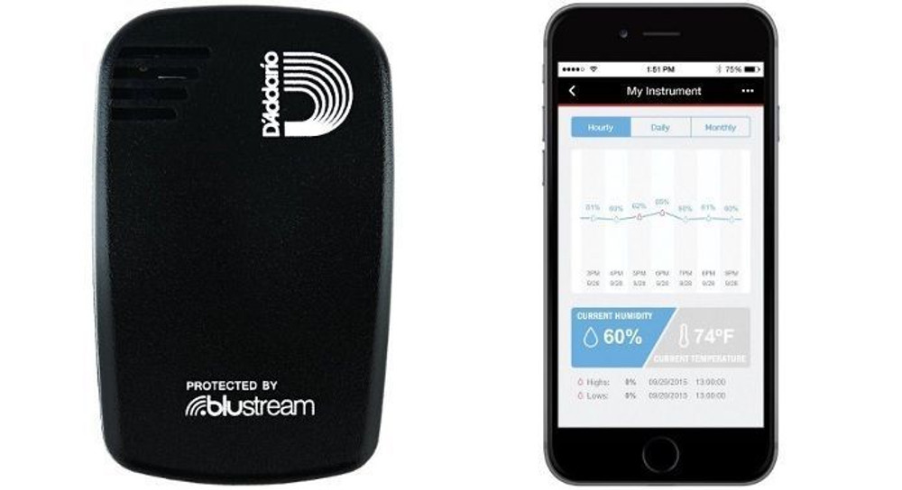 Planet Waves Planet Waves Humiditrak - Bluetooth Humidity and Temperature Sensor Protect