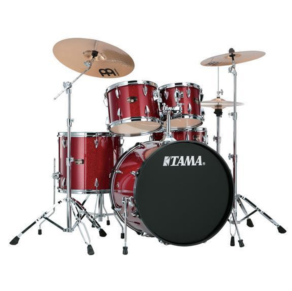 Tama Candy Apple Mist Tama IP52KCCPM Imperialstar 5-Piece Complete Drum Kit with 22 Bass Drum and Hardware, Cymbals