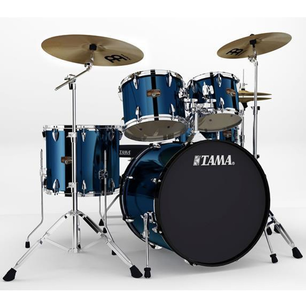 Tama Midnight Blue Tama IP52NCMNB Imperialstar 5-Piece Complete Drum Kit with 22 Bass Drum and Hardware, Cymbals