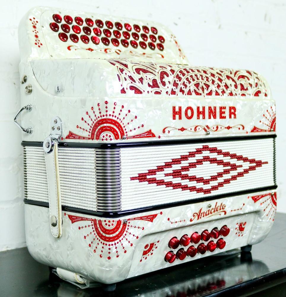 Hohner Hohner Anacleto Rey Del Norte III L Accordion White GCF
