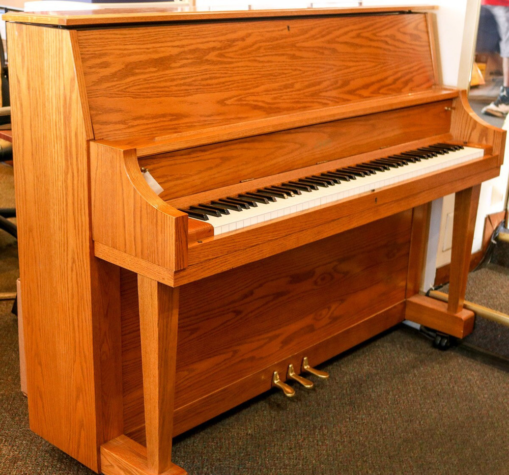 Boston Boston UP118s Studio Piano Oak w/ Bench