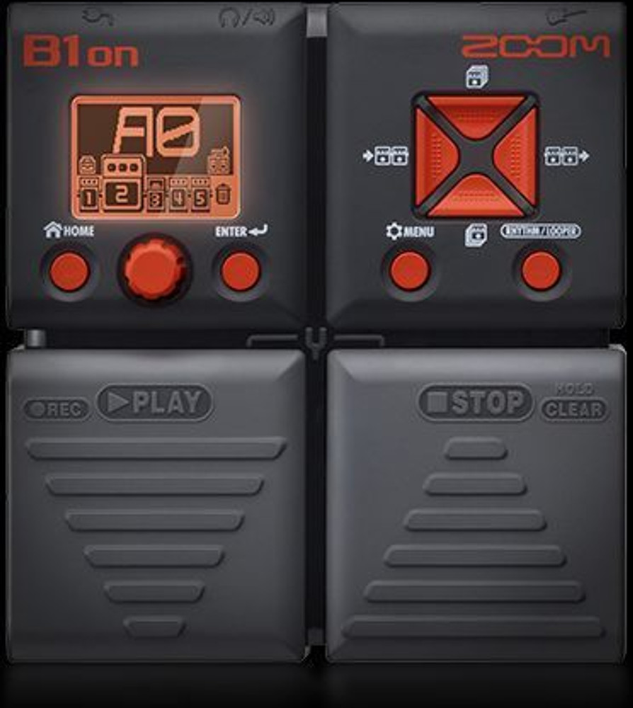 Zoom Zoom ZB1ON Bass Multi-effects Pedal w/100 Effects