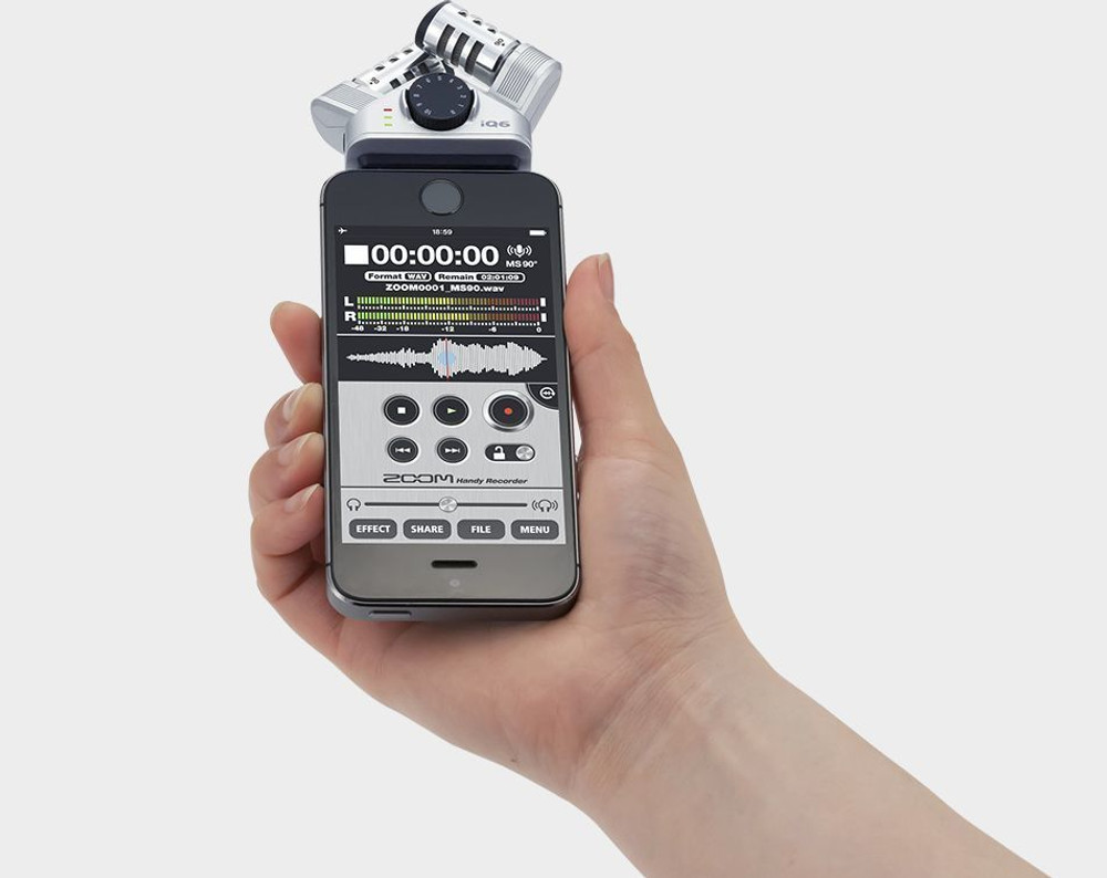 Zoom Zoom IQ6 X/Y Stereo Mic IQ-Series For iPhone, iPad, or iPod Touch