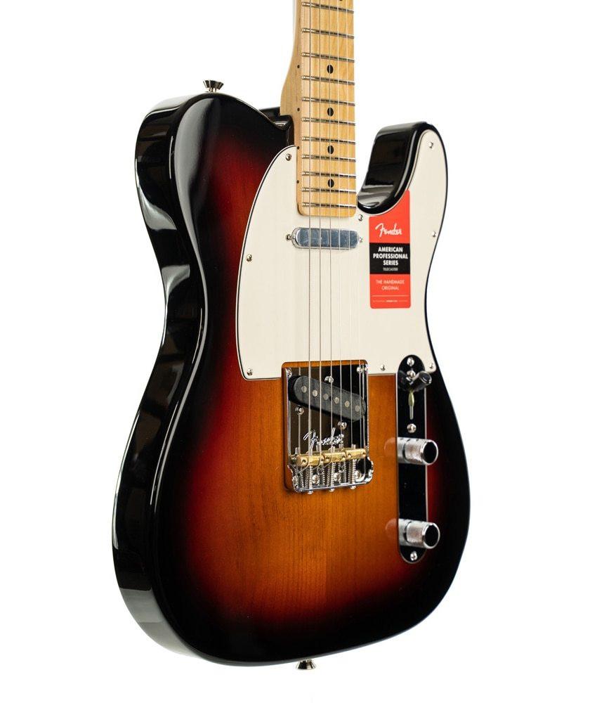 Fender Fender American Professional Telecaster Electric Guitar Maple Fingerboard, 3-Color Sunburst