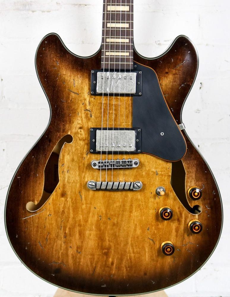 Ibanez Ibanez Artcore Vintage Series ASV10A Semi-Hollowbody Electric Guitar Tobacco Burst