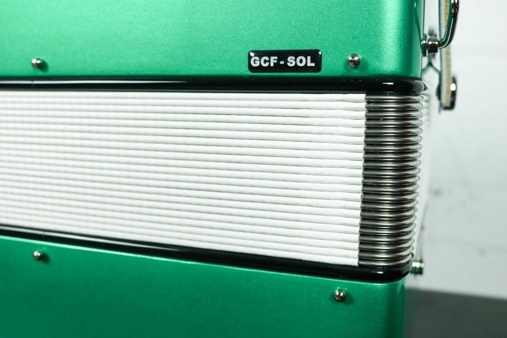 Hohner Hohner Anacleto Rey Del Norte III Accordion GCF Compact Green