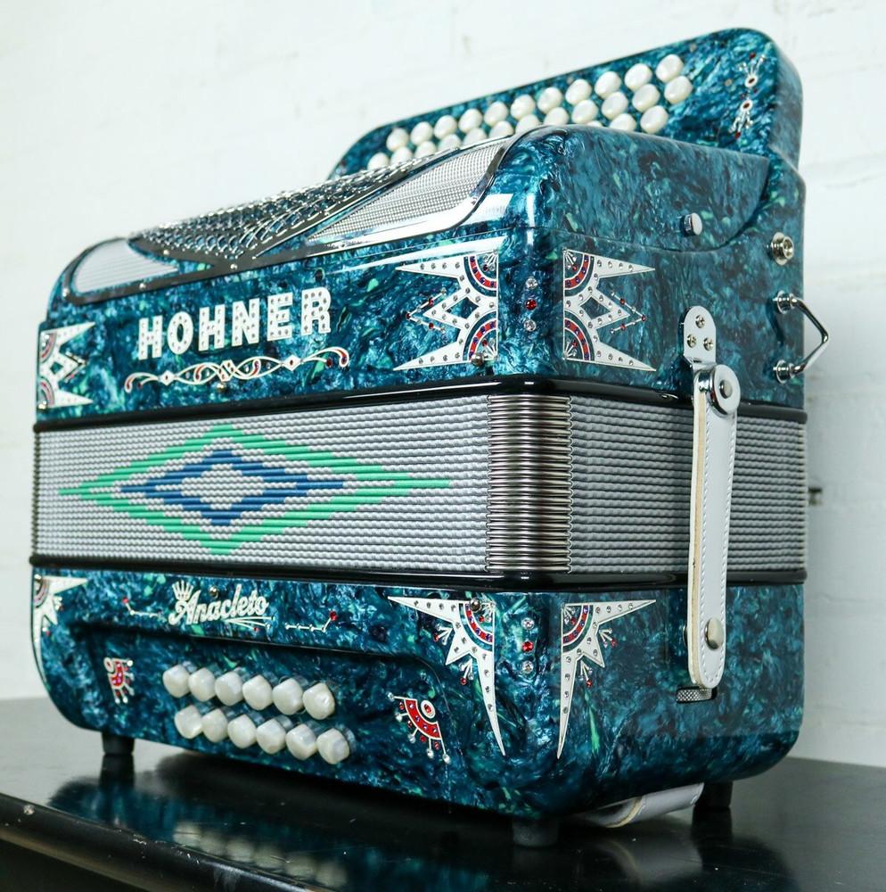 Hohner Hohner Anacleto Rey Del Norte TT Accordion FBbEb/EAD Green