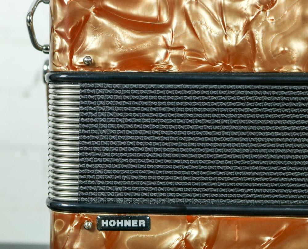 Hohner Hohner Anacleto Rey Del Norte TT Accordion FBbEb/GCF Brown