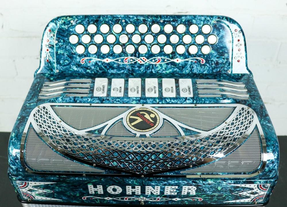 Hohner Hohner Anacleto Rey Del Norte TT FBbEb/GCF Accordion Green