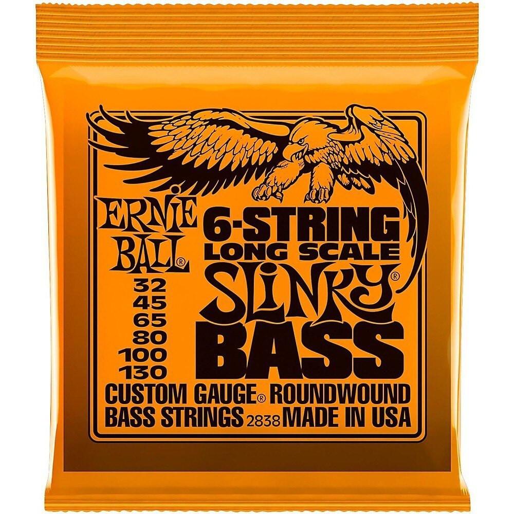 Ernie Ball Ernie Ball Slinky Long Scale 6-String Nickel Wound Electric Bass Strings - 32-130 Gauge