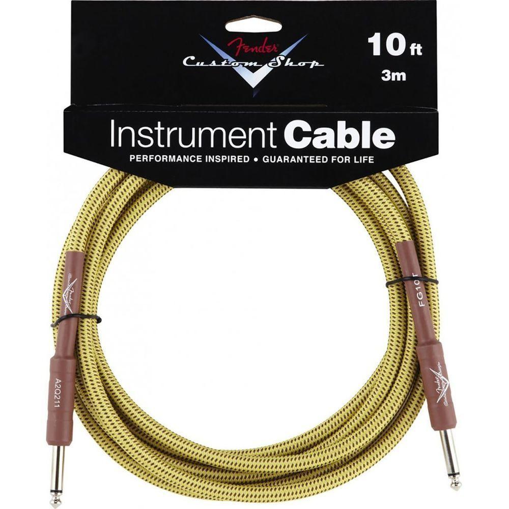 Fender Fender Custom Shop 10ft Instrument Cable - Tweed