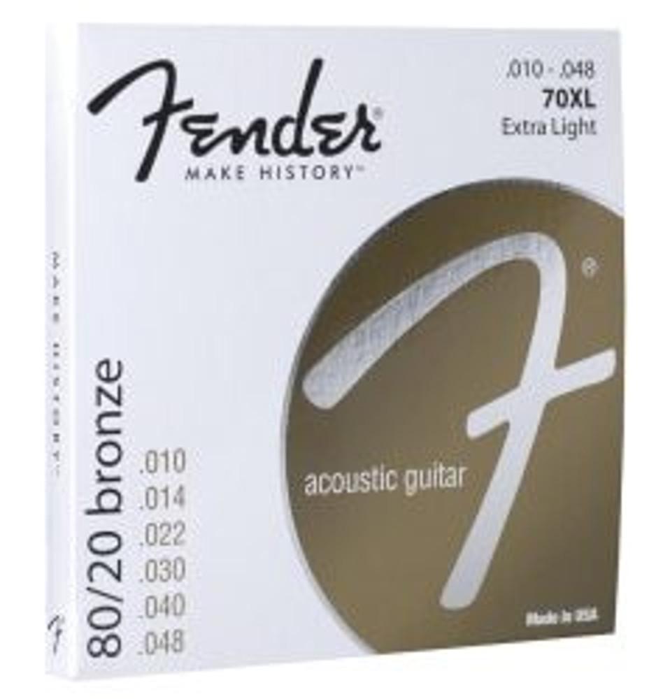 Fender Fender Extra Light 80/20 Bronze Acoustic Strings Ball End 70XL 10-48