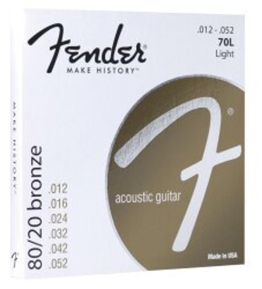 Fender Fender Light 80/20 Bronze Acoustic Strings Ball End, 70L 12-52