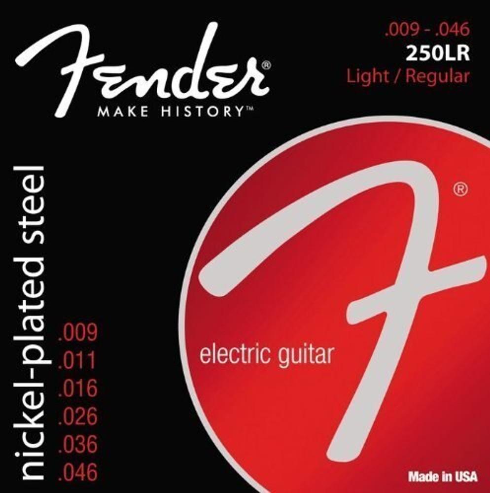 Fender Fender Super 250 Light/Reg Electric Guitar Strings Nickel Plated Steel Ball End 250LR 9-46