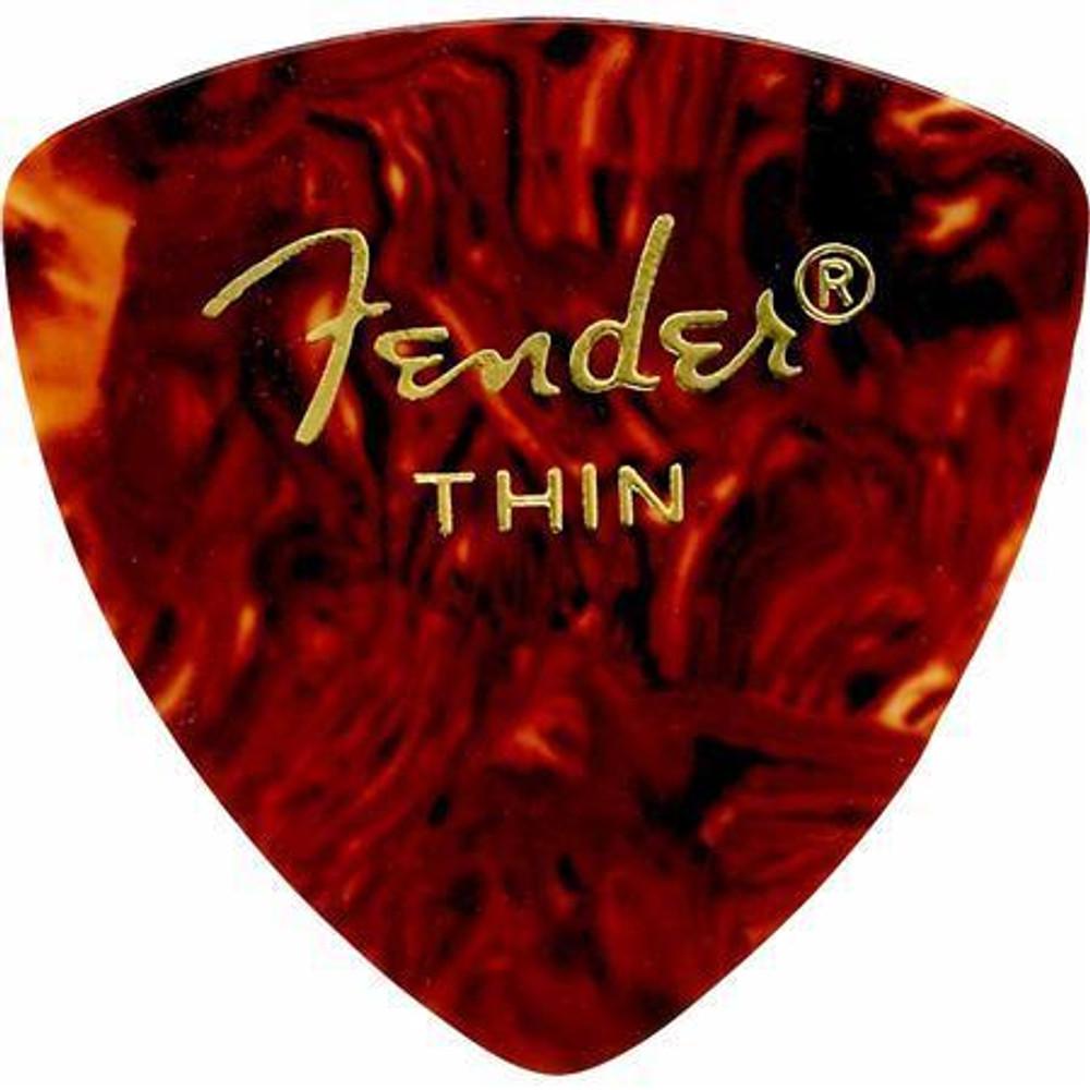 Fender Fender 346 Shape Classic Celluloid Guitar Picks Thin 12 Pack Shell