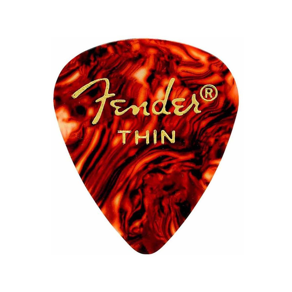 Fender Fender 351 Shape Classic Pick for Guitars Thin 12 Pack Tortoise Shell