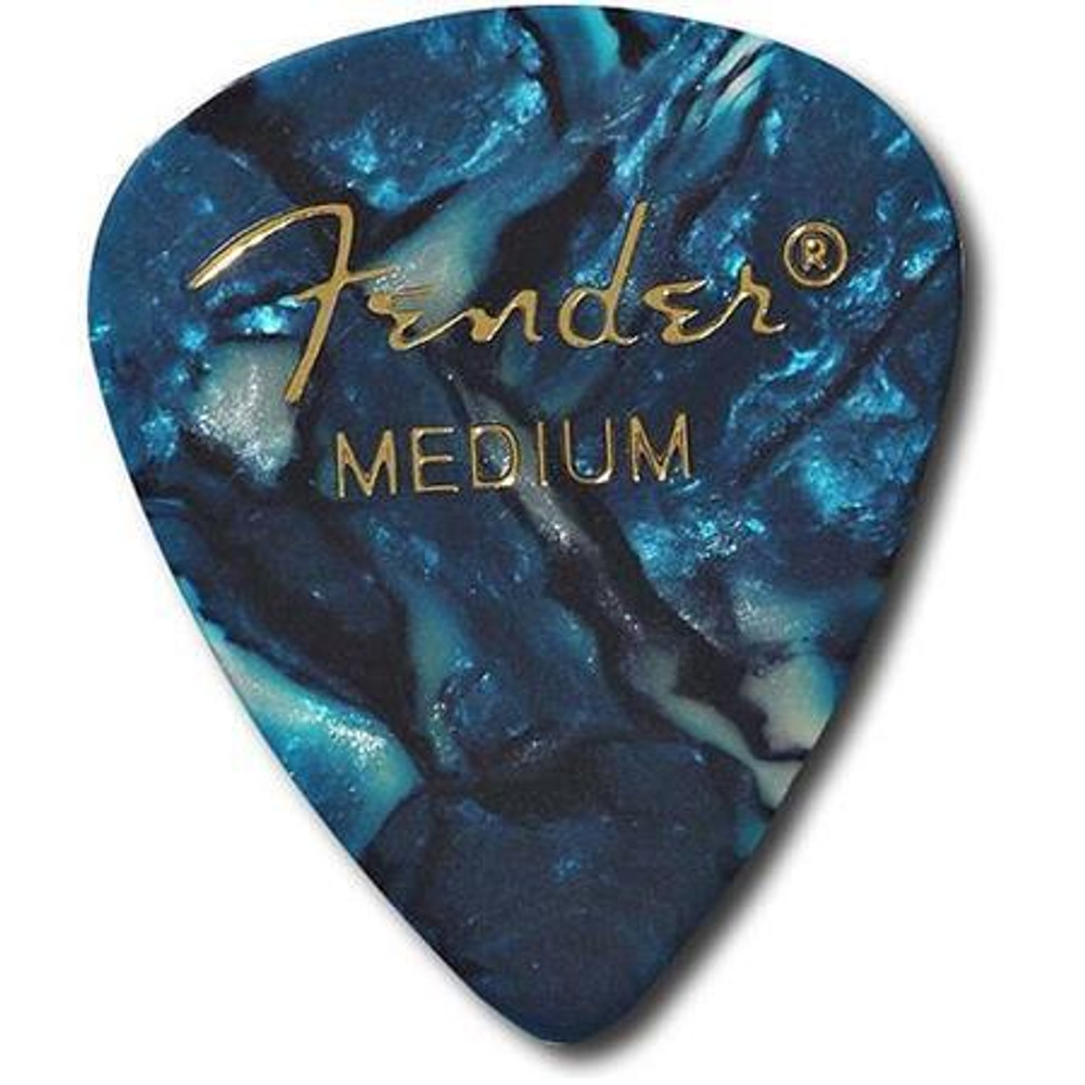 Fender Fender 351 Shape Premium Picks for Guitars Medium 12 Count Ocean Turquoise