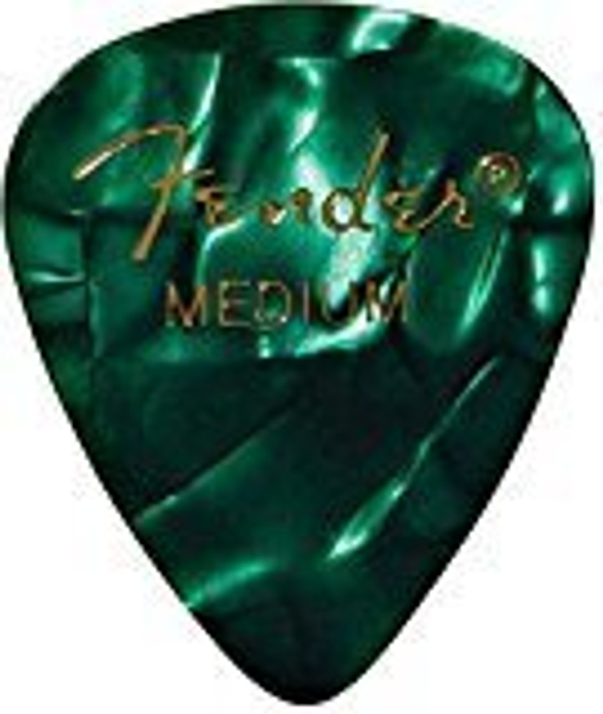 Fender Fender 351 Shape Premium Picks for Guitars Medium 12 Count Green Moto