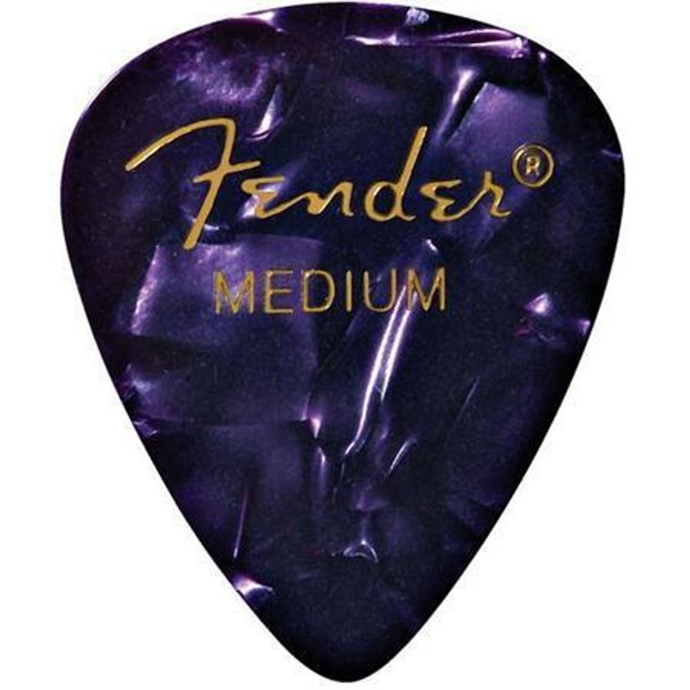 Fender Fender 351 Shape Premium Picks for Guitars Medium 12 Count Purple Moto