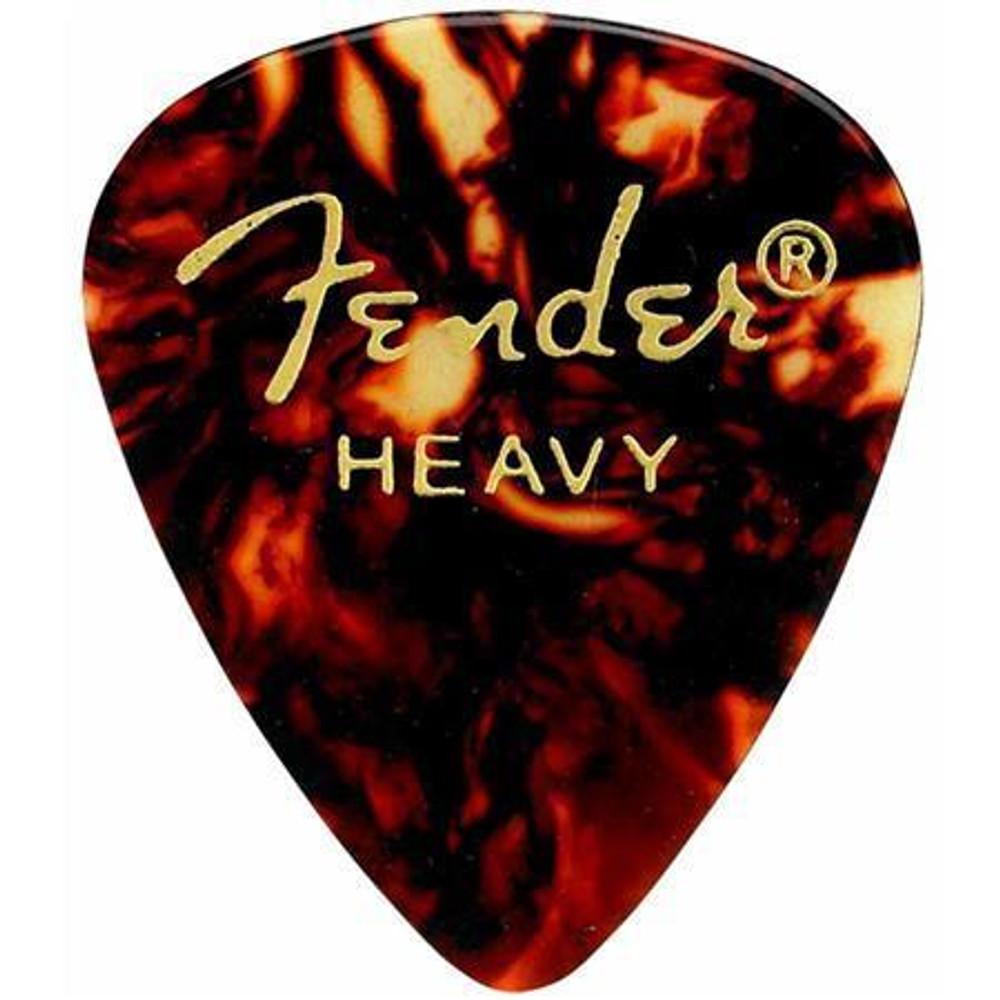 Fender Fender 351 Shape Classic Pick for Guitars, Heavy 12 Pack Tortoise Shell