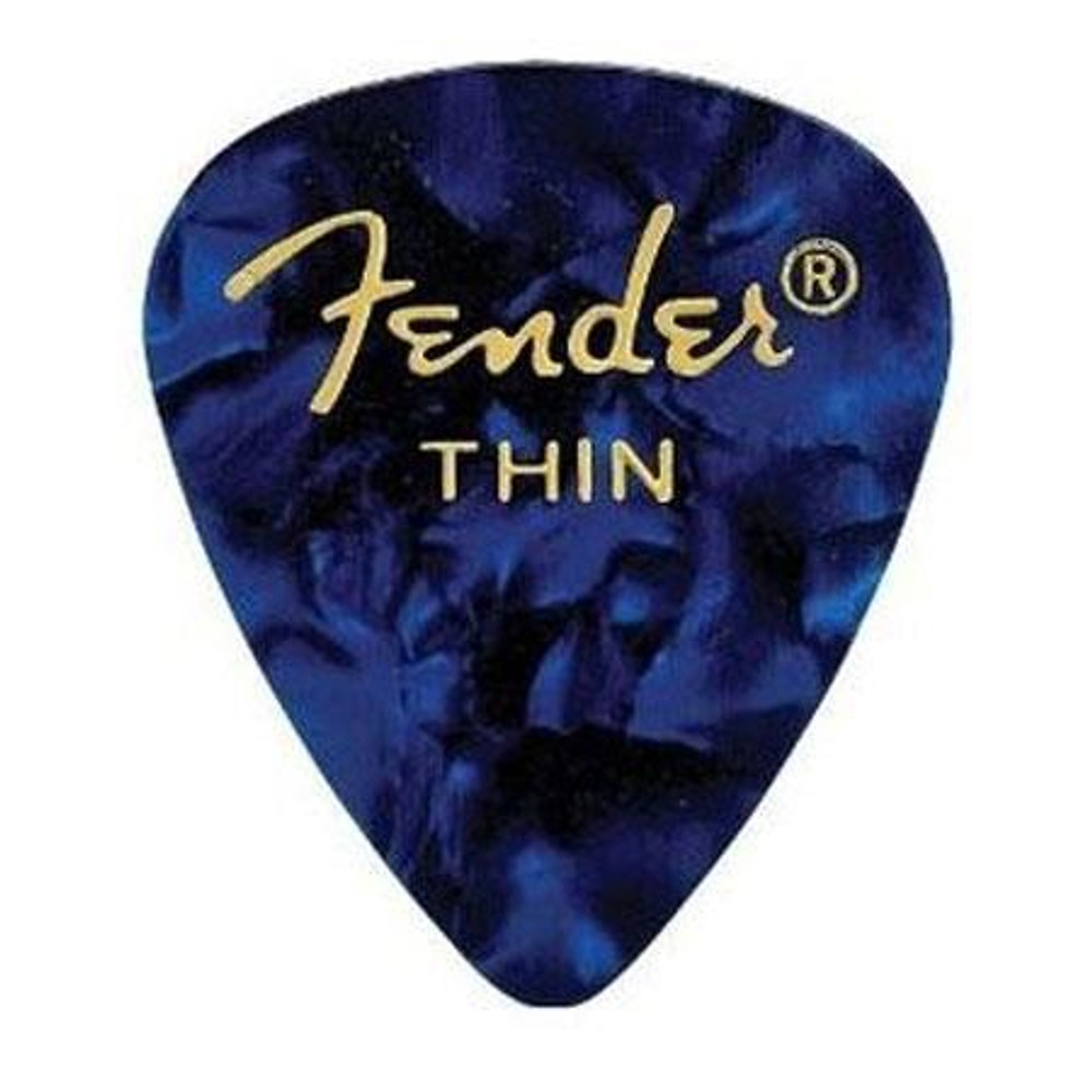 Fender Fender 351 Shape Premium Picks for Guitars Thin 12 Count Blue Moto