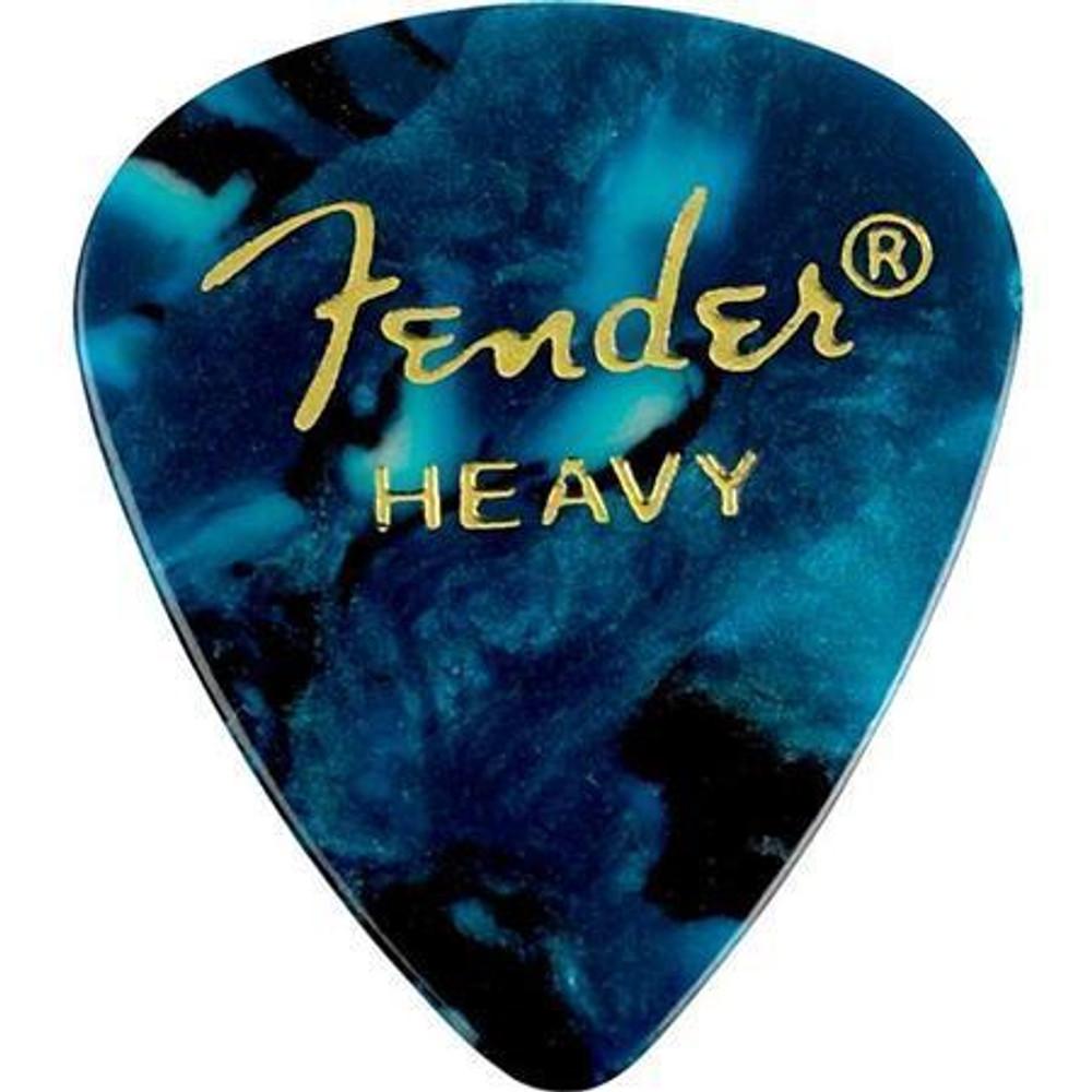 Fender Fender 351 Shape Premium Celluloid Guitar Picks Heavy 12 Pack Ocean Turquoise