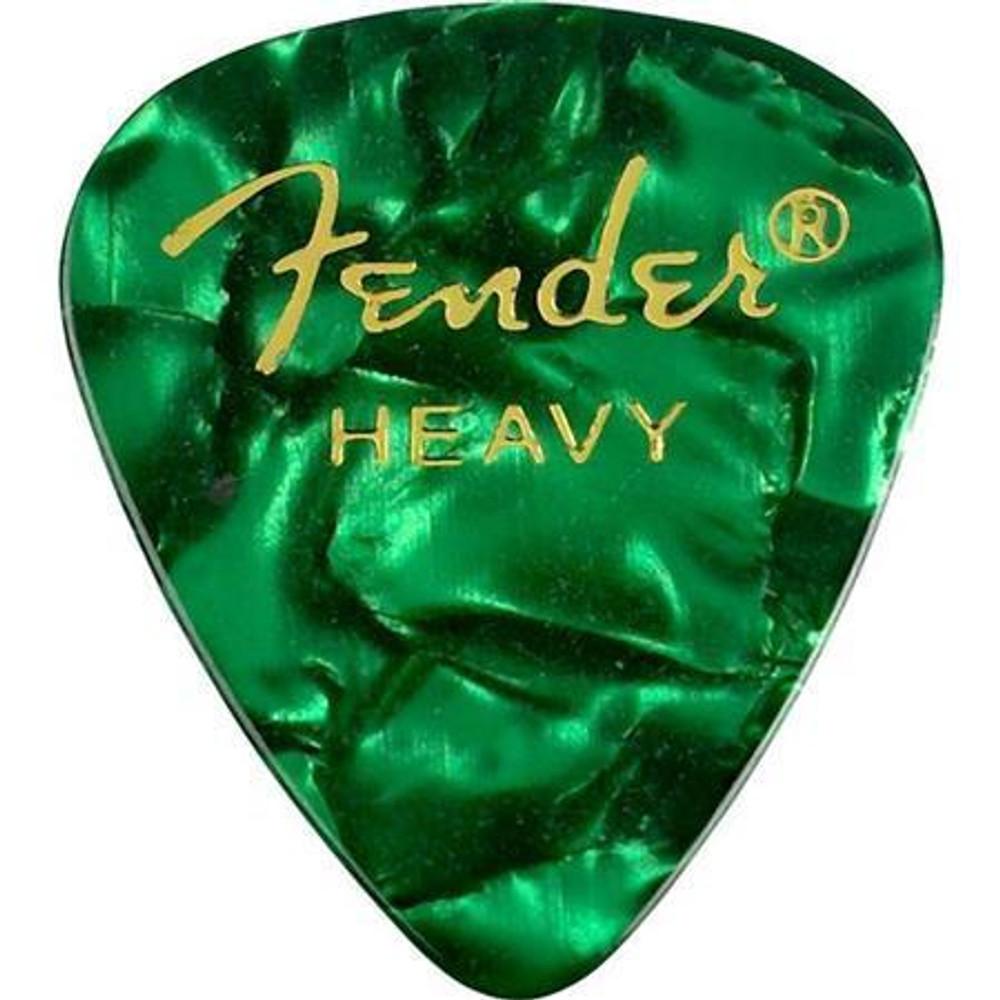 Fender Fender 351 Shape Premium Celluloid Guitar Picks Heavy 12 Pack Green Moto