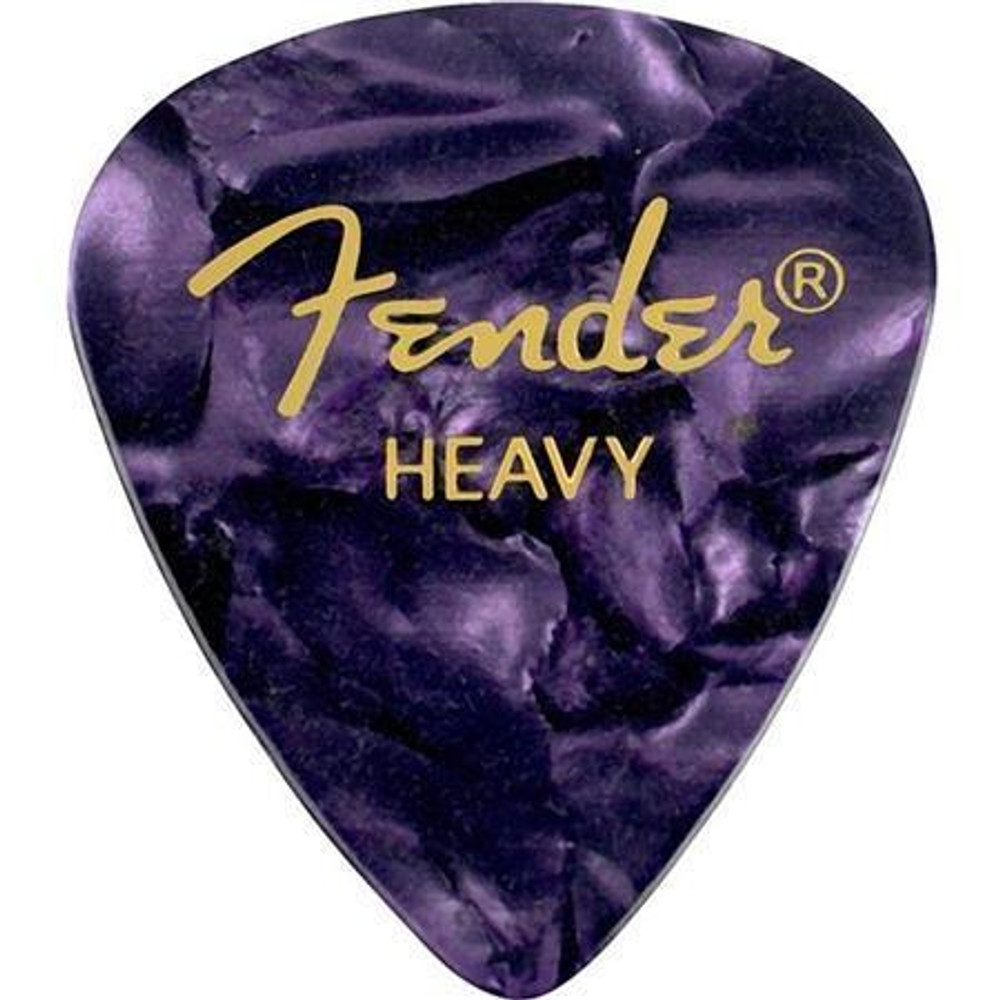 Fender Fender 351 Shape Premium Celluloid Guitar Picks Heavy 12 Pack Purple Moto