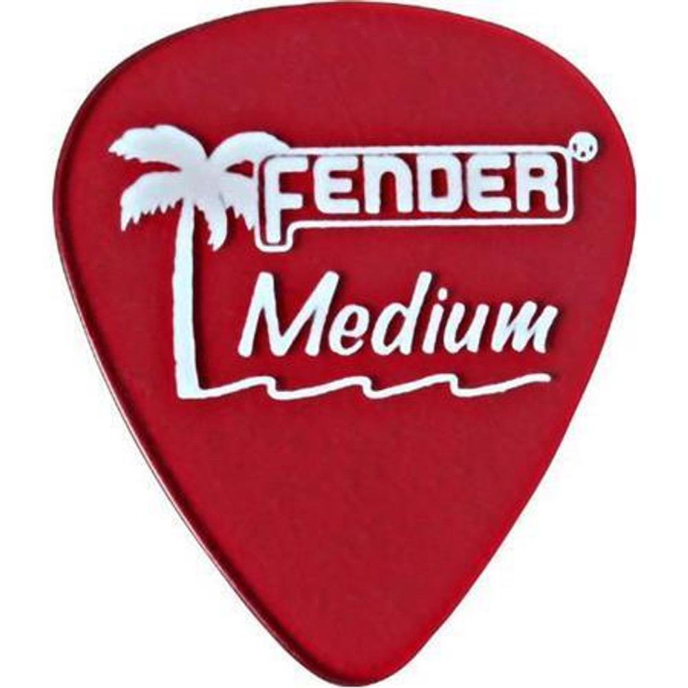 Fender Fender California Clear Guitar Picks Medium 12 Pack Candy Apple Red
