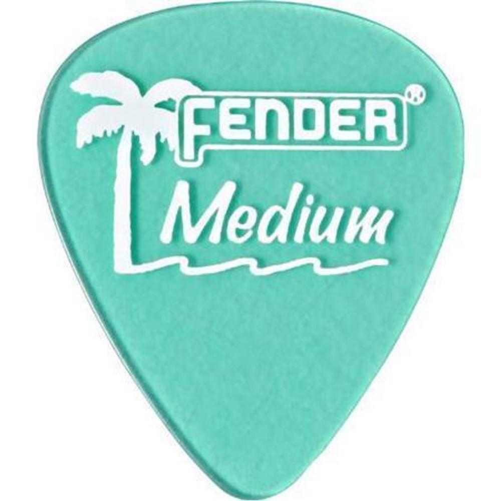 Fender Fender California Clear Guitar Picks Medium 12 Pack Surf Green