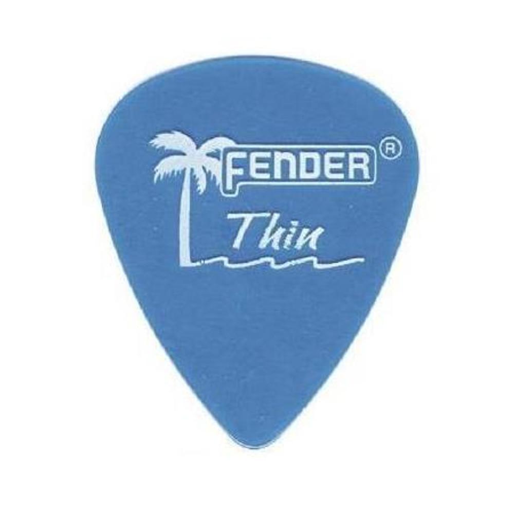 Fender Fender California Clear Guitar Picks Thin 12 Pack Lake Placid Blue