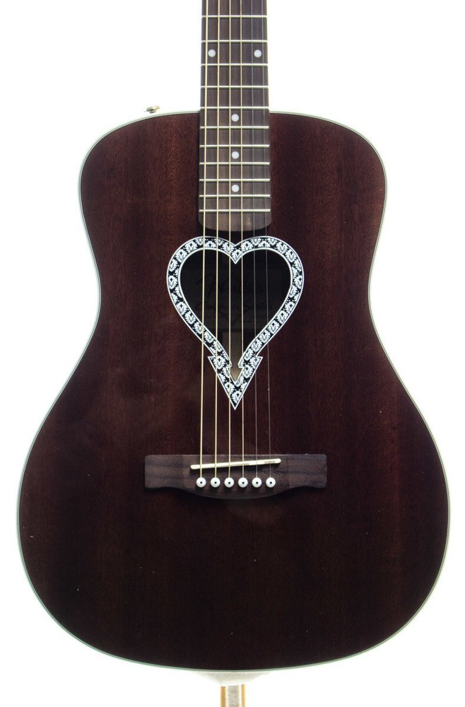 Fender Acoustic Guitars Fender Alkaline Trio Malibu Mahogany Acoustic Guitar Natural