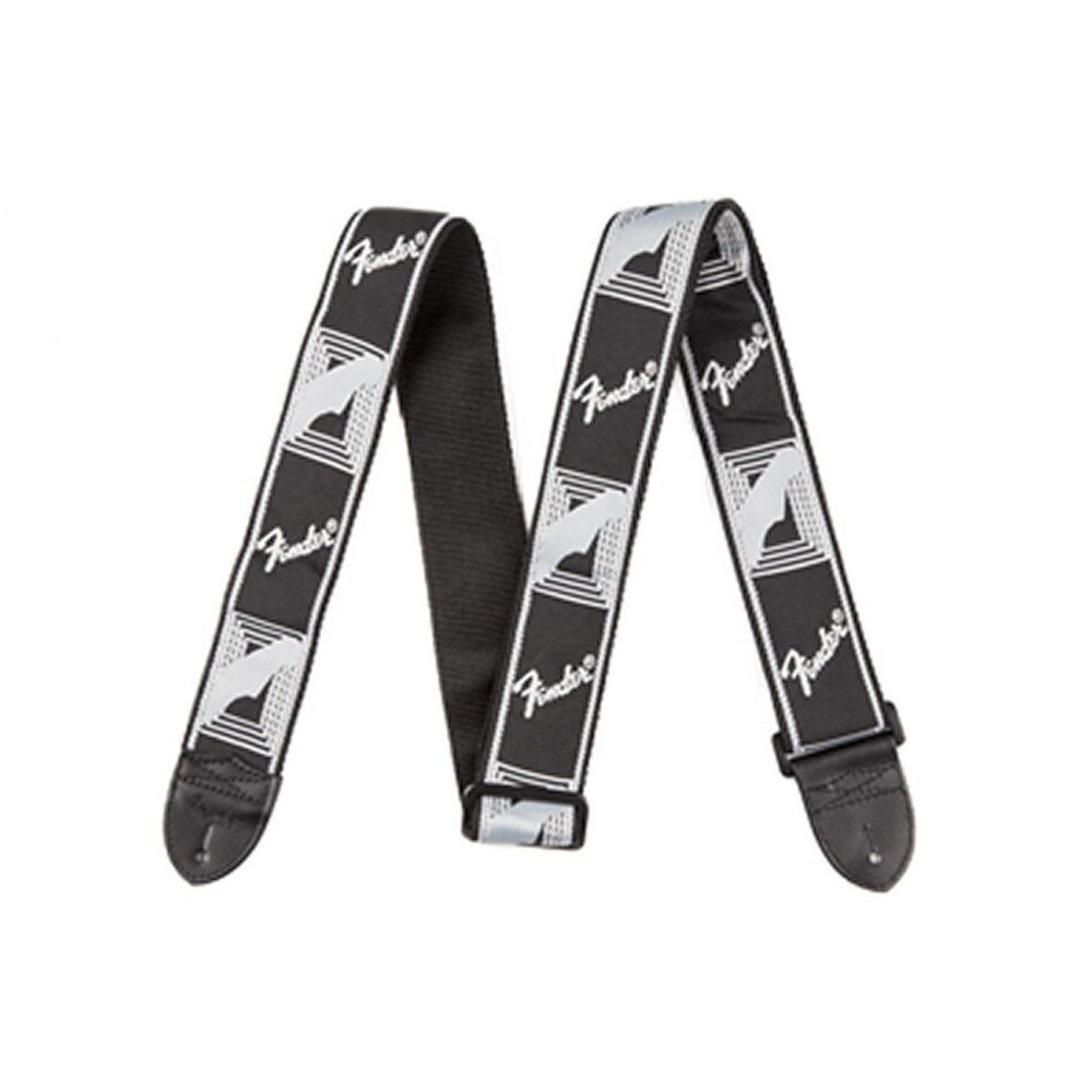 Fender Fender 2 Monogrammed Strap, Black/Light Grey/Dark Grey