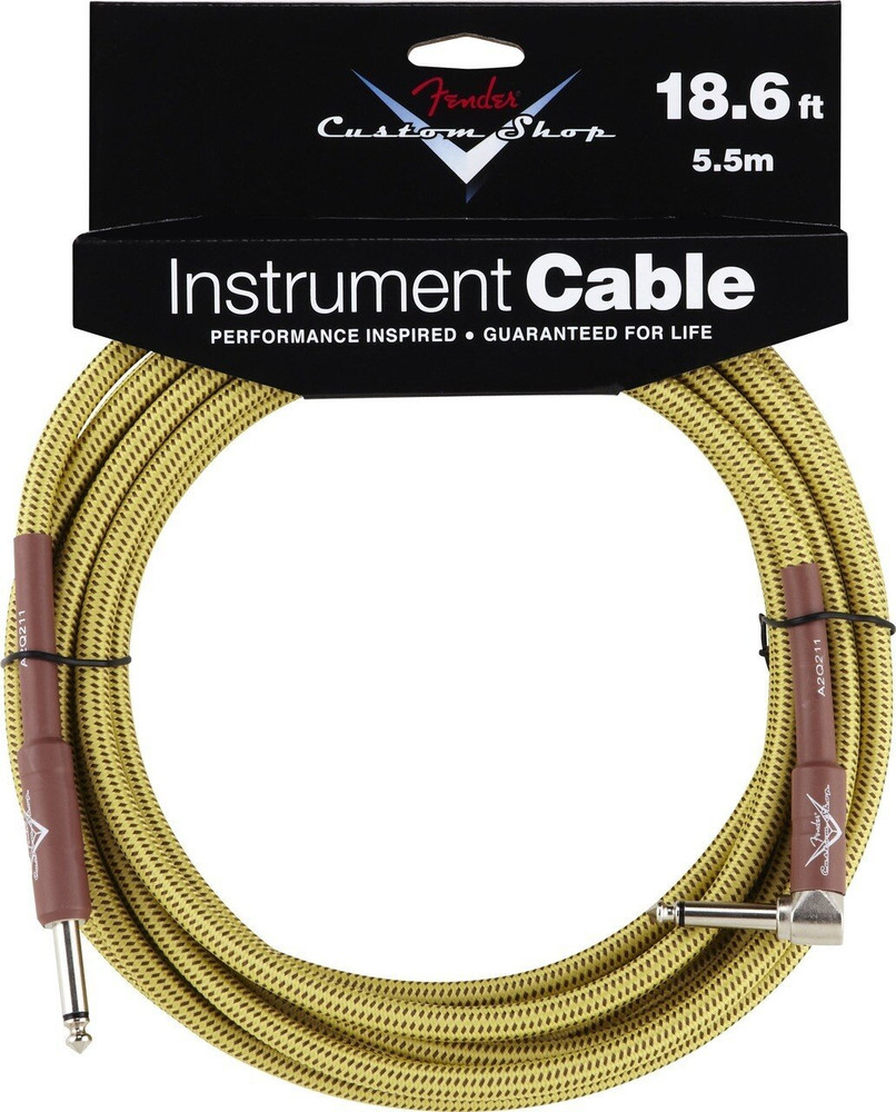 Fender Fender 18.6 Tweed Instrument Cable Angled