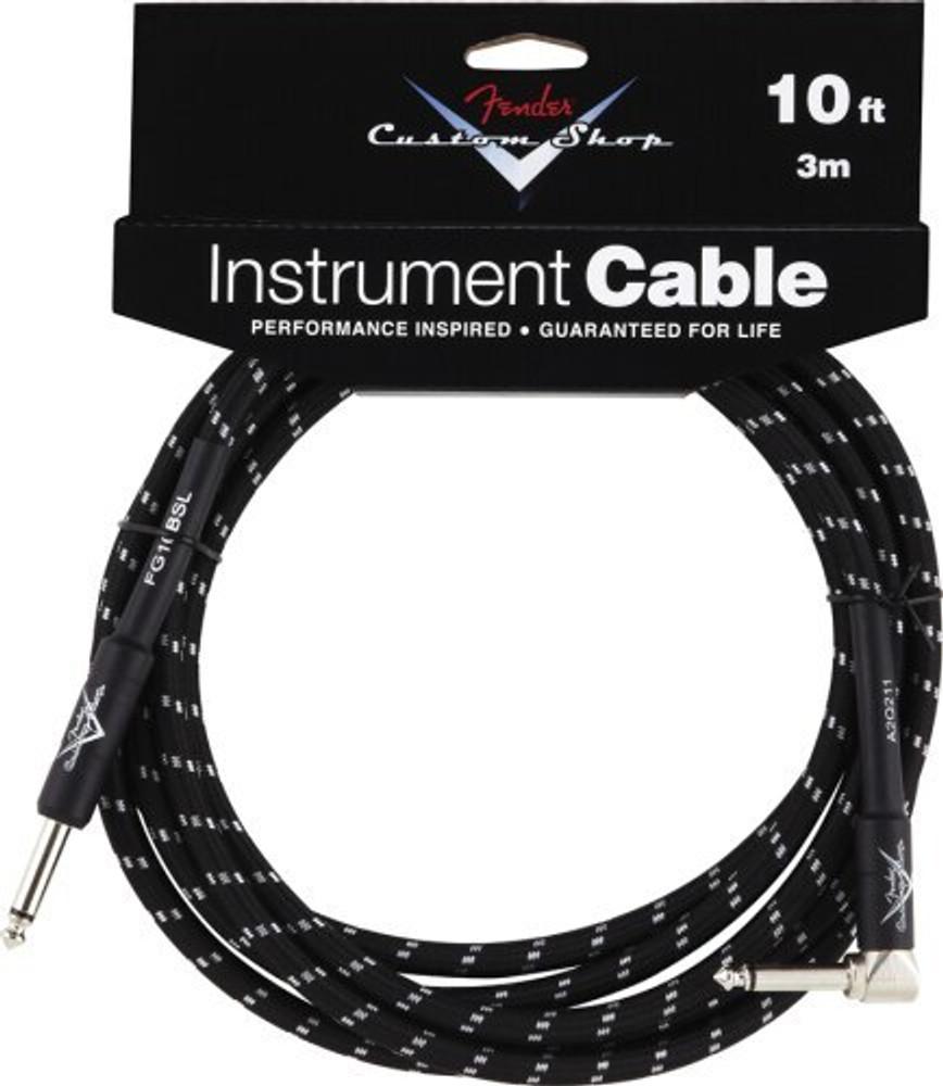 Fender Fender 10 Black Instrument Cable Angle