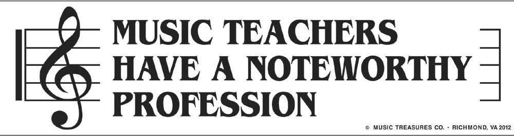 Music Treasures Music Teacher Have A Noteworthy Profession Bumper Sticker