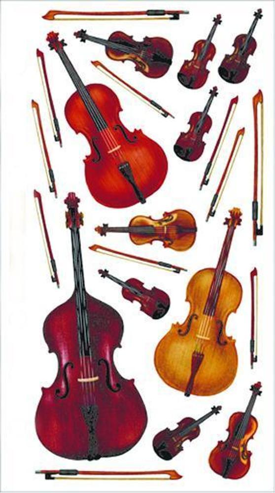 Music Treasures Orchestra Instrument Vellum Stickers