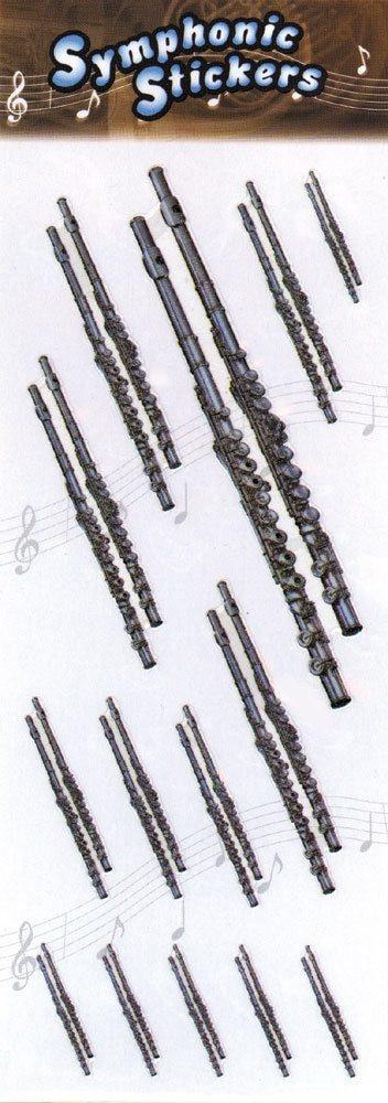 Music Treasures Flute Stickers