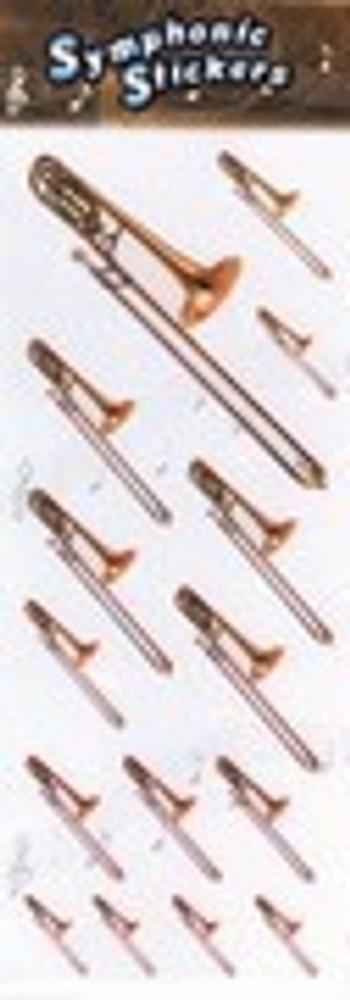 Music Treasures Trombone Stickers
