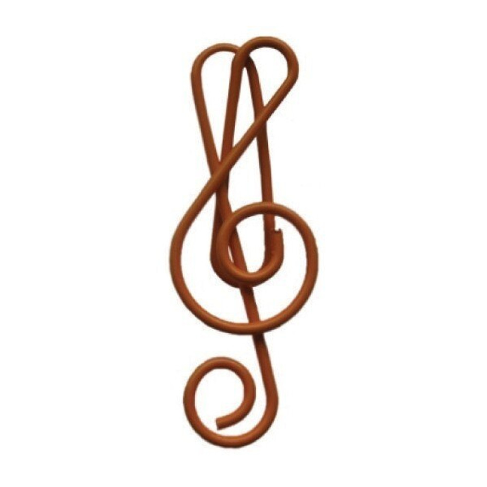 Music Treasures Red Treble Cleff Paper Clips 20 Pack