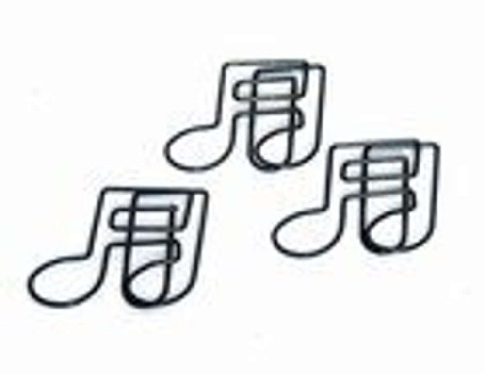 Music Treasures Black Note Paper Clips 20 Pack