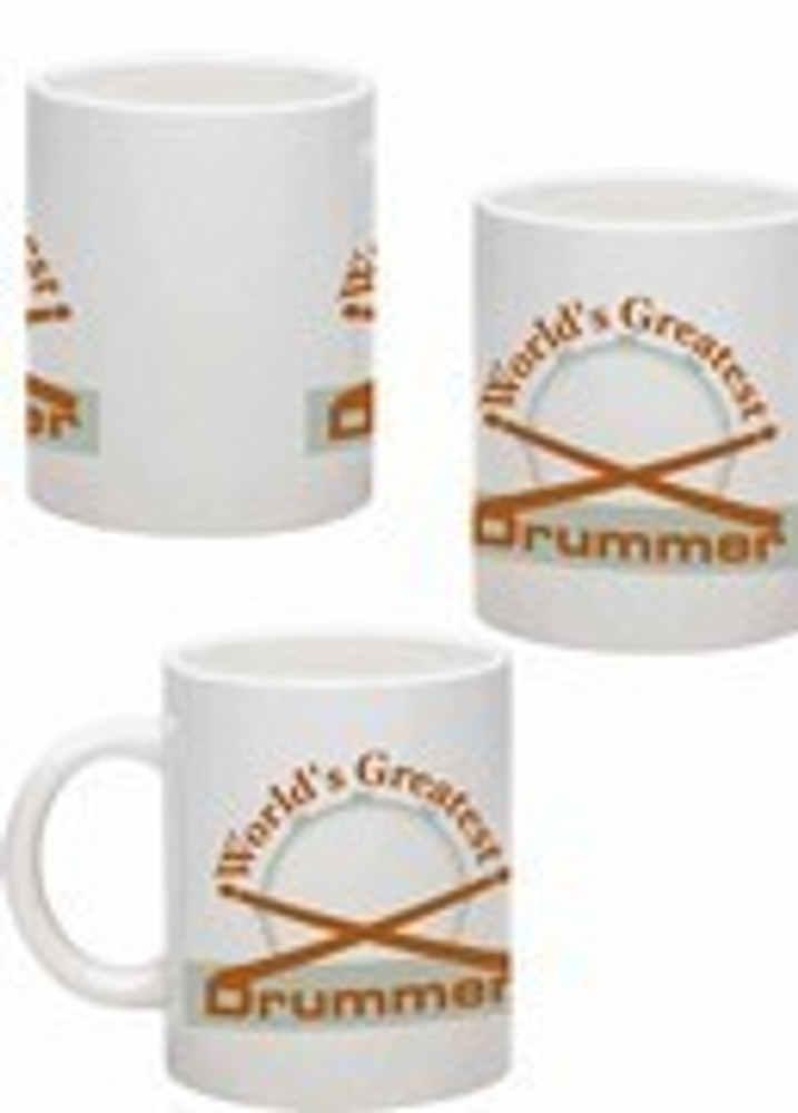 Music Treasures Worlds Greatest Drummer Music Mug