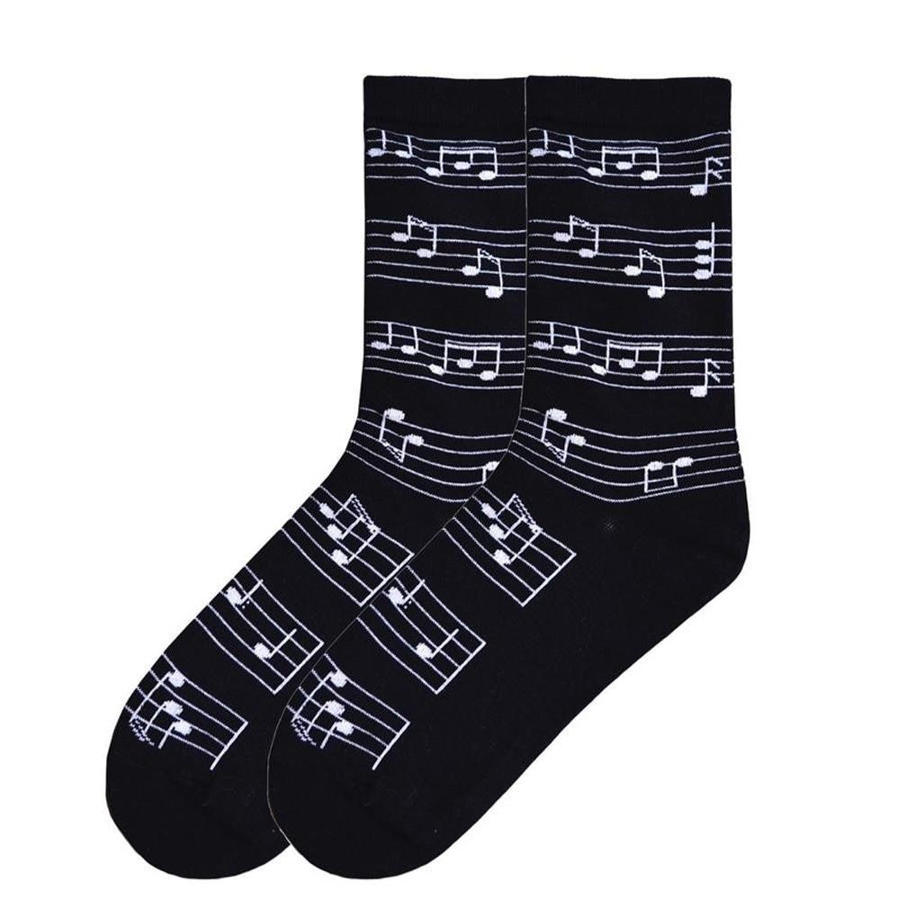 Music Treasures Black Staff Socks