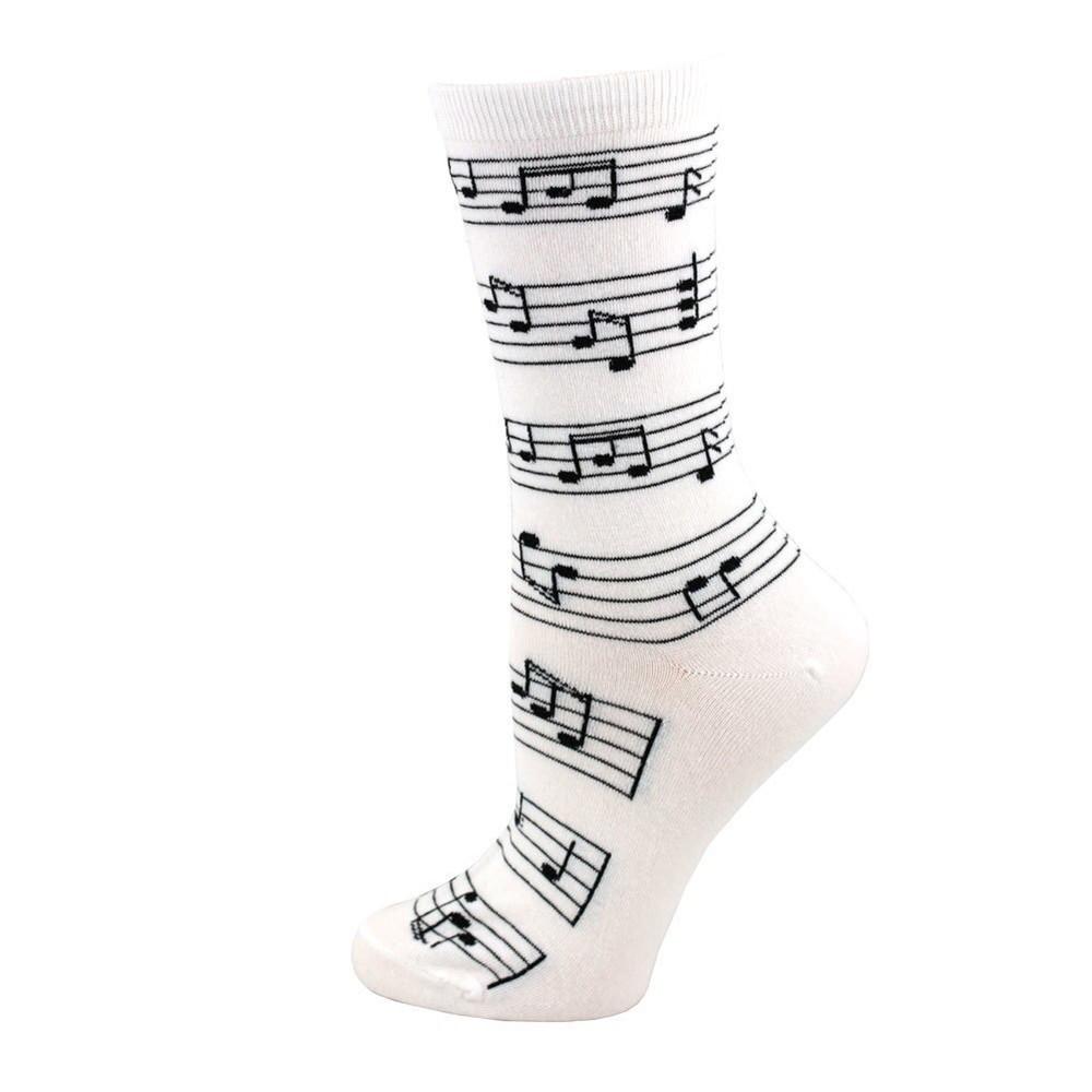 Music Treasures White Staff Socks