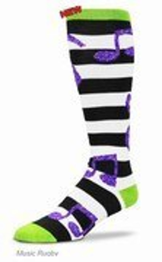 Music Treasures Music Striped Rugby Socks
