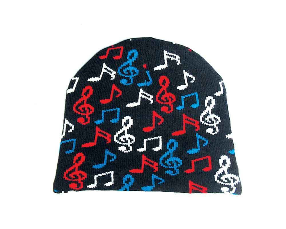 Music Treasures Music Red and Blue Beanie Hat