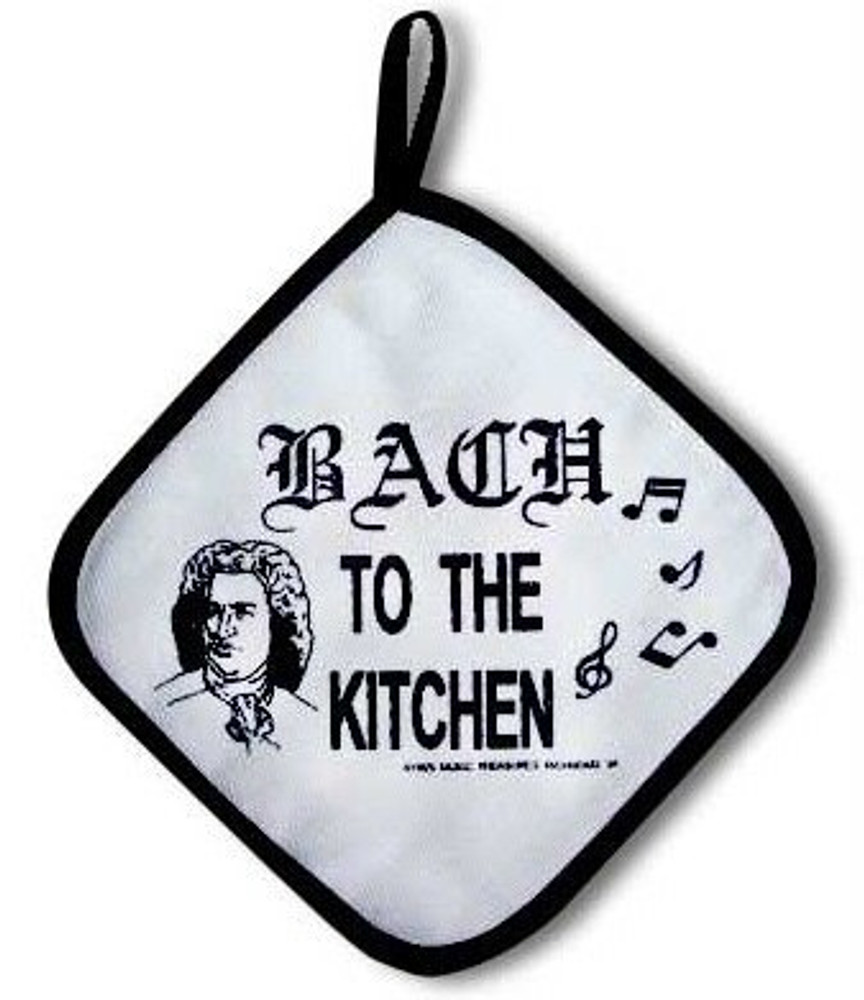 Music Treasures Bach to the Kitchen Potholder
