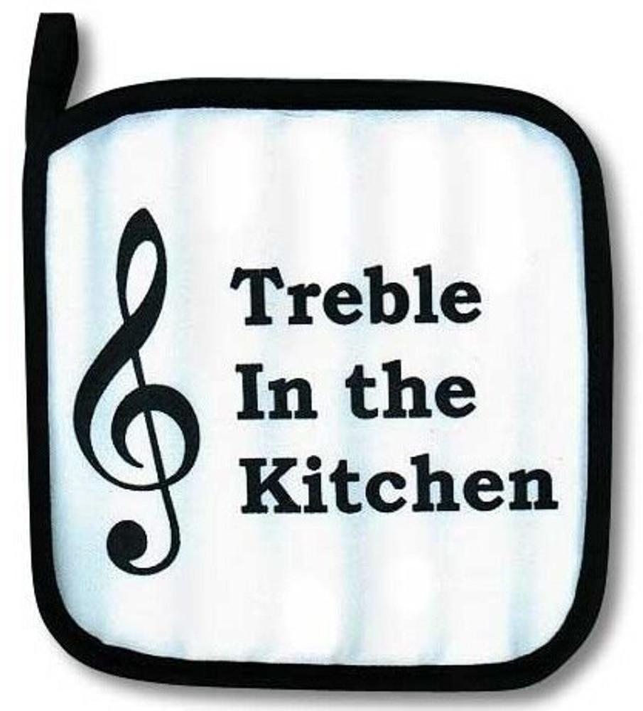 Music Treasures Treble In The Kitchen Potholder