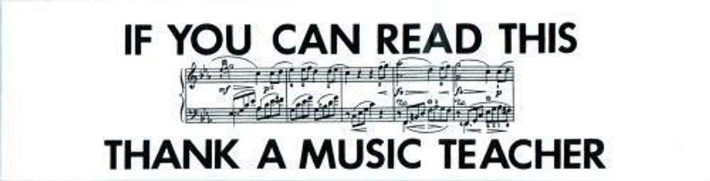 Music Treasures If You Can Read This Thank A Music Teacher Bumper Sticker